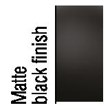 Black matte finish