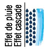 2 types de jets (effet de pluie et cascade) à 2 positions