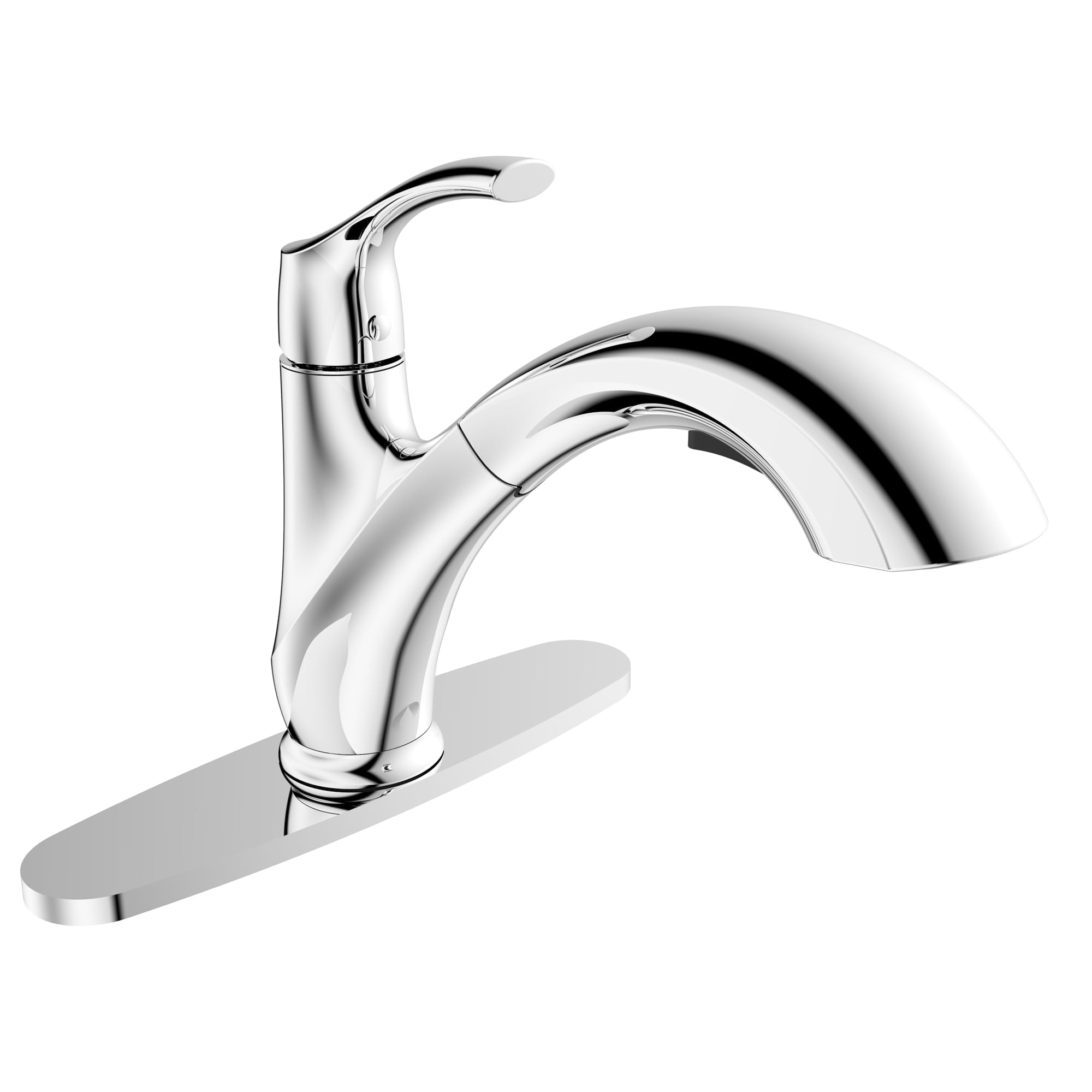 Kitchen Sink Faucet with Swivel Pull-Out Spout and Integrated Hand ...