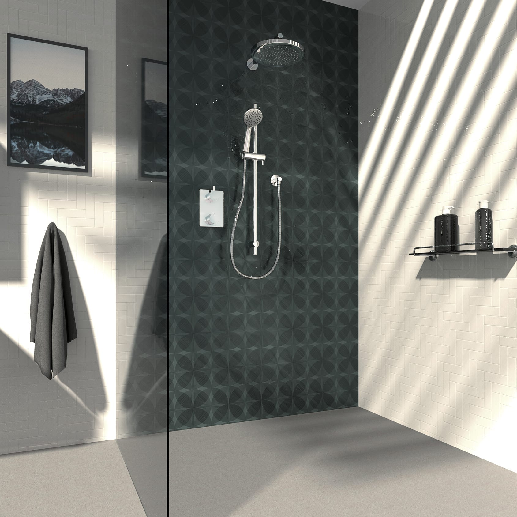 Kit: Shower Faucet - Complete model for Thermostatic