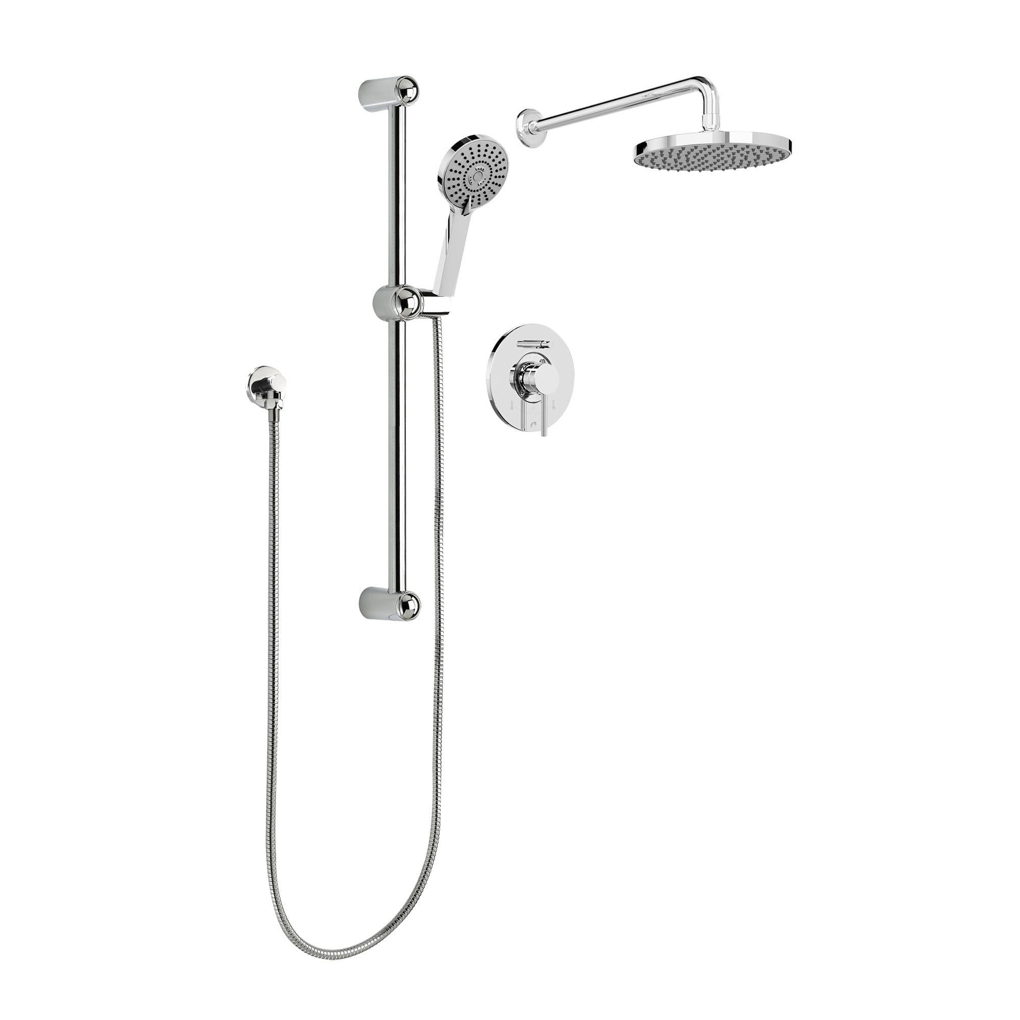 complete shower faucet kits. PCT KIT DEL130CCP jpg  1 Shower Kits Kit Faucet Complete model with Pressure Balanced