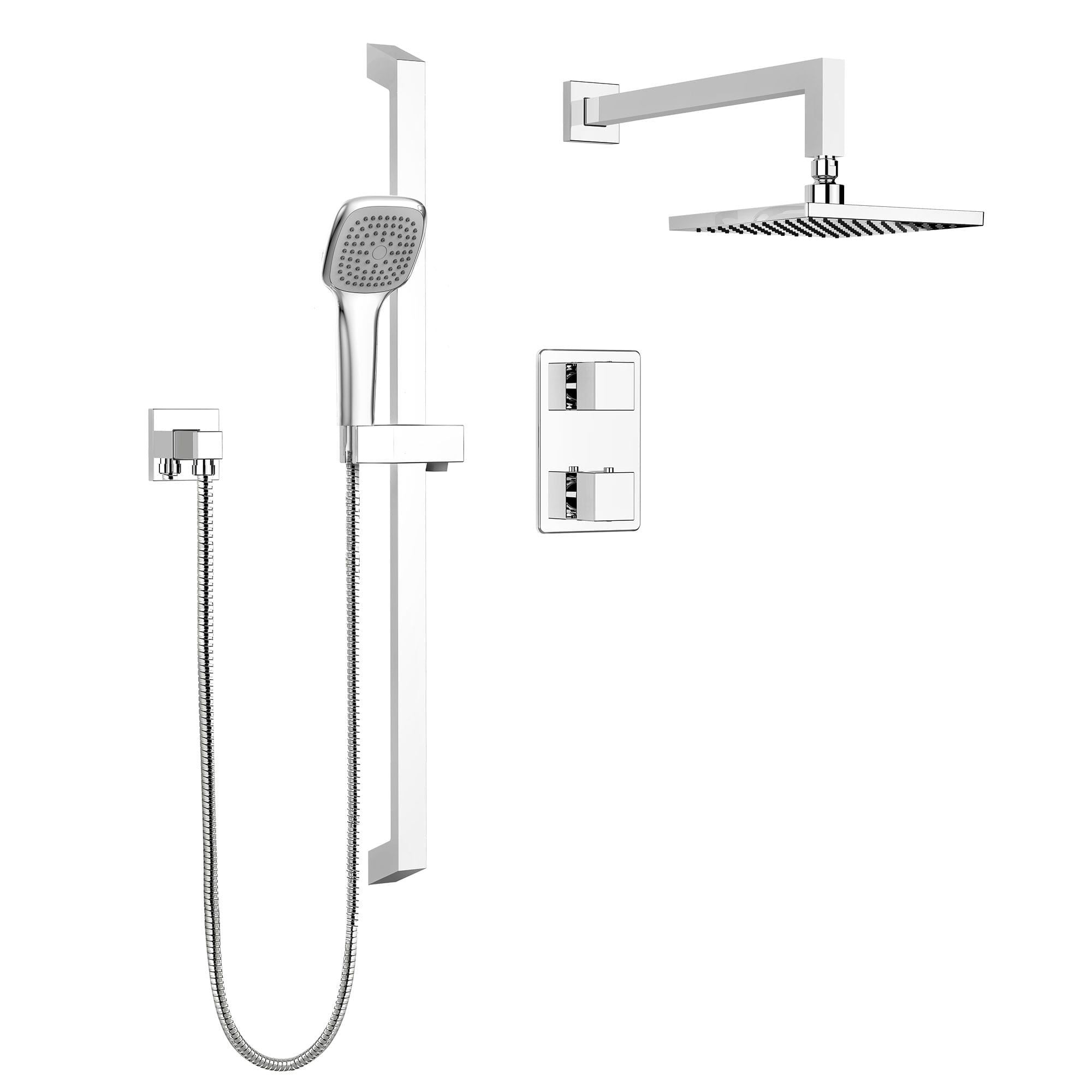 complete shower faucet kits. PCT KIT QUA140TSCP jpg  1 Shower Kits Kit Faucet Complete model for Thermostatic Diverter