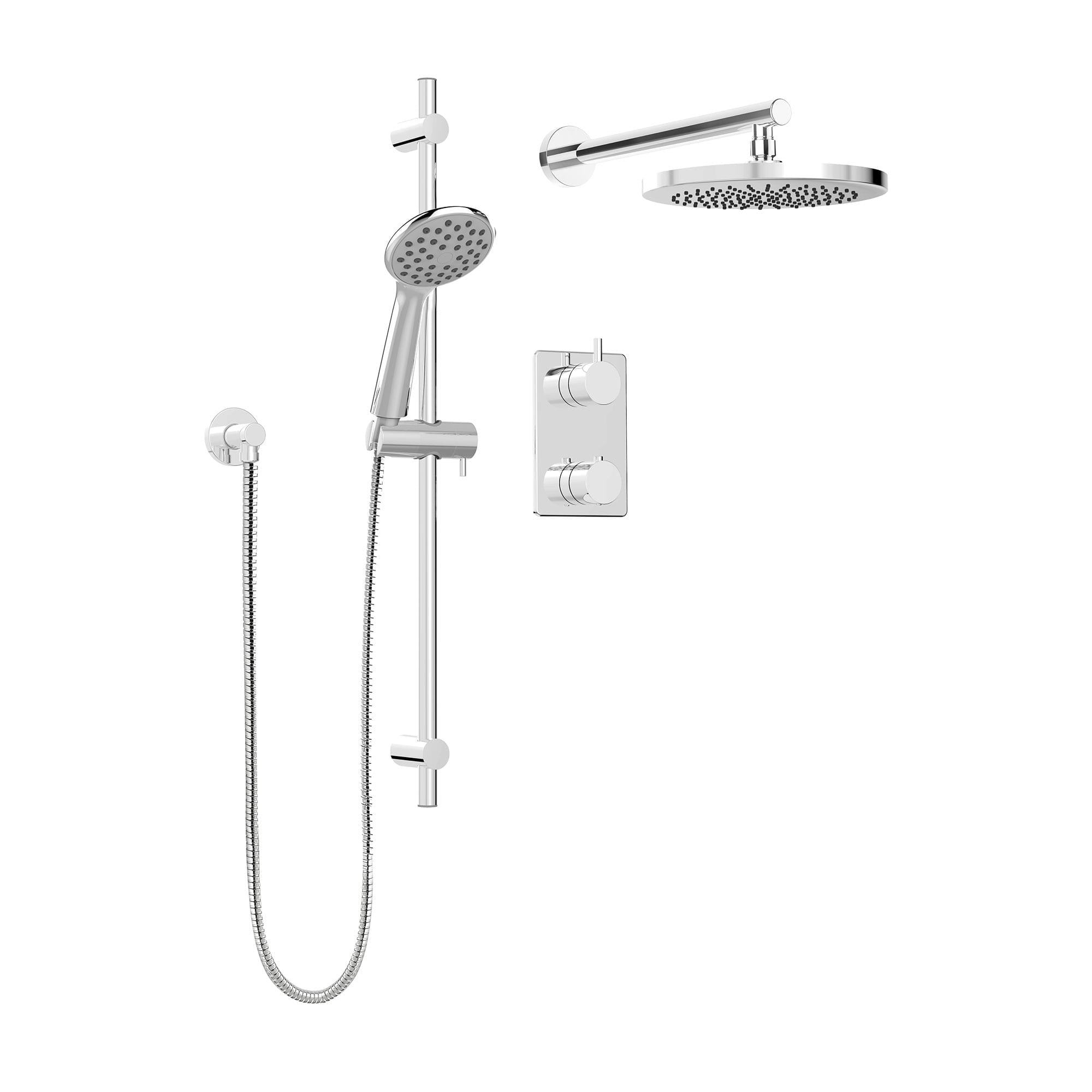 complete shower faucet kits. PCT KIT UNI140TSCP jpg  1 Shower Kits Kit Faucet Complete model for Thermostatic Diverter