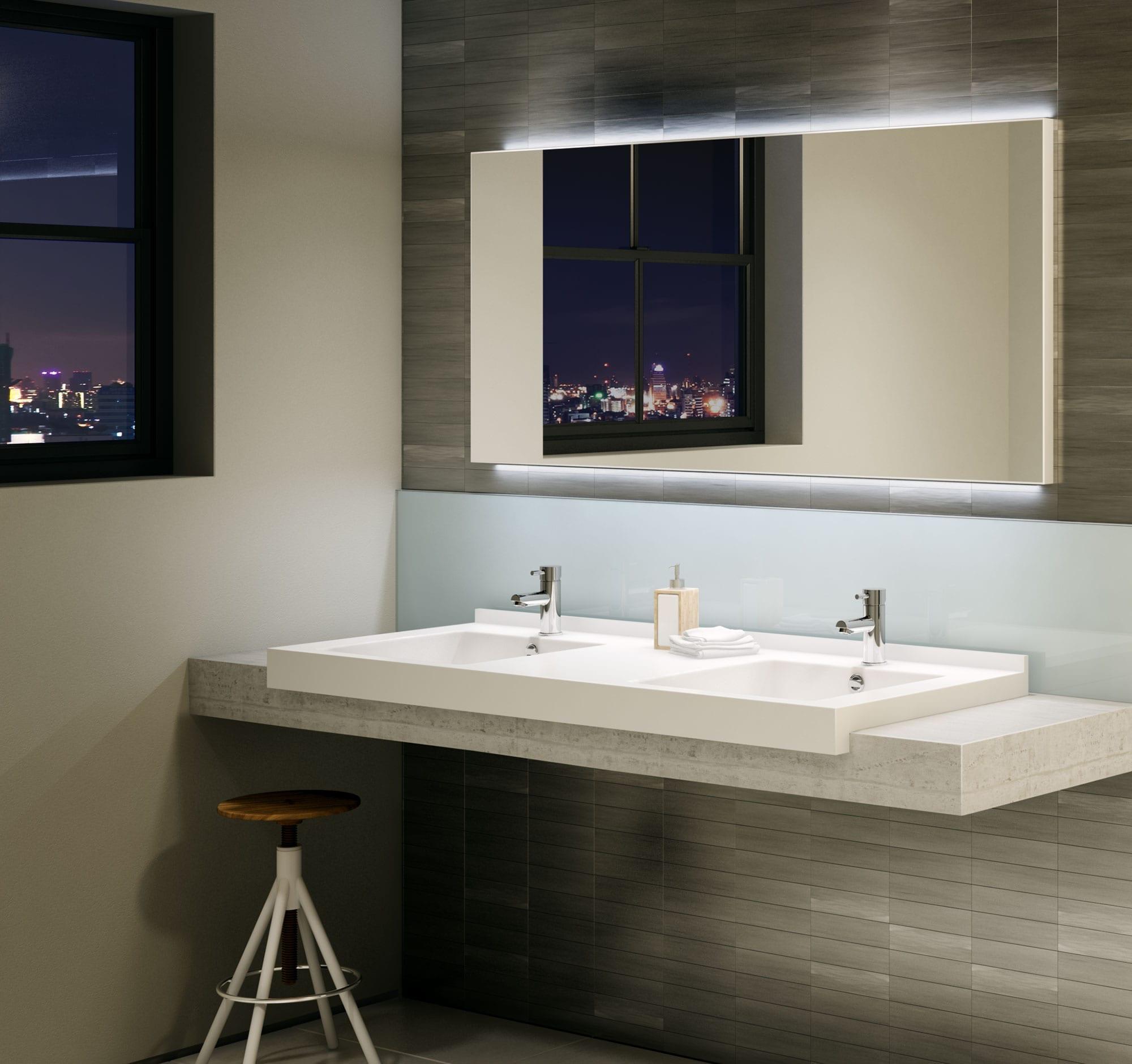 robinet pour lavabo de salle de bain avec a rateur. Black Bedroom Furniture Sets. Home Design Ideas