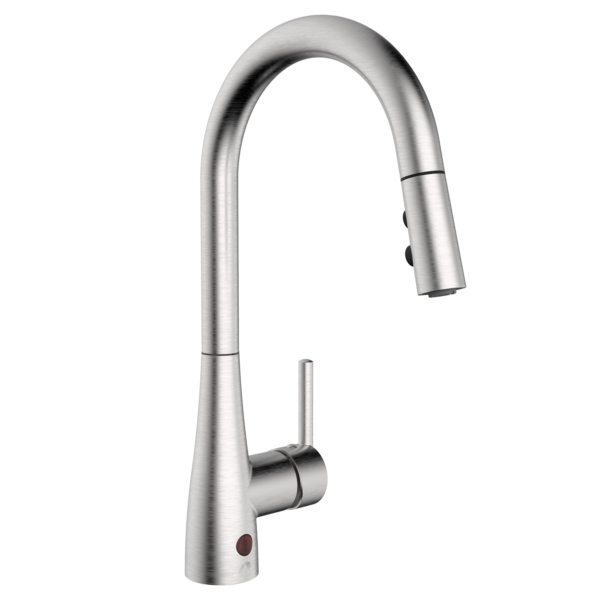 b kitchen sink products langer en side spout faucet upt pull with out shop swivel