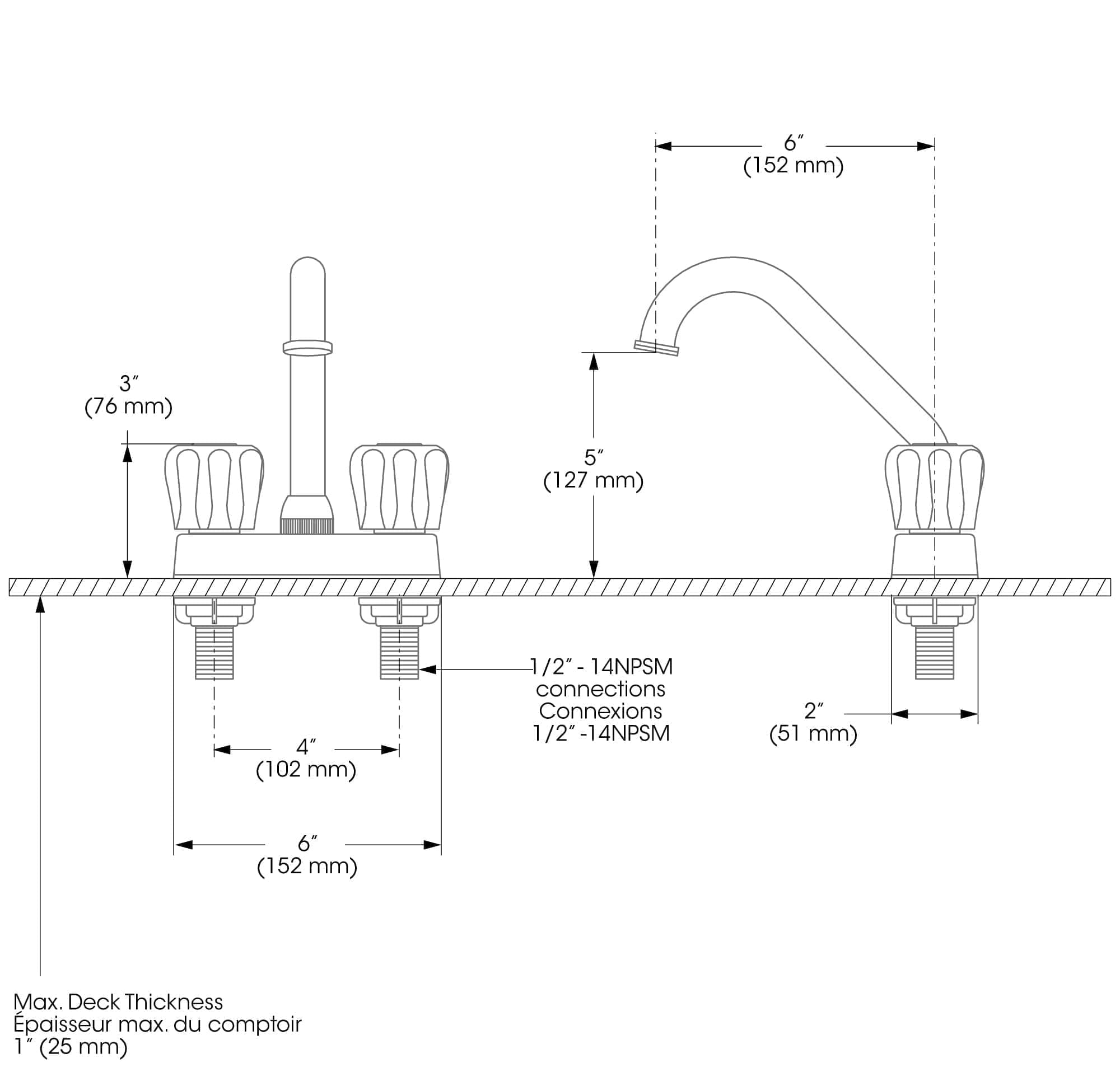 Laundry Tub Faucet with Installation Kit - Bélanger UPT