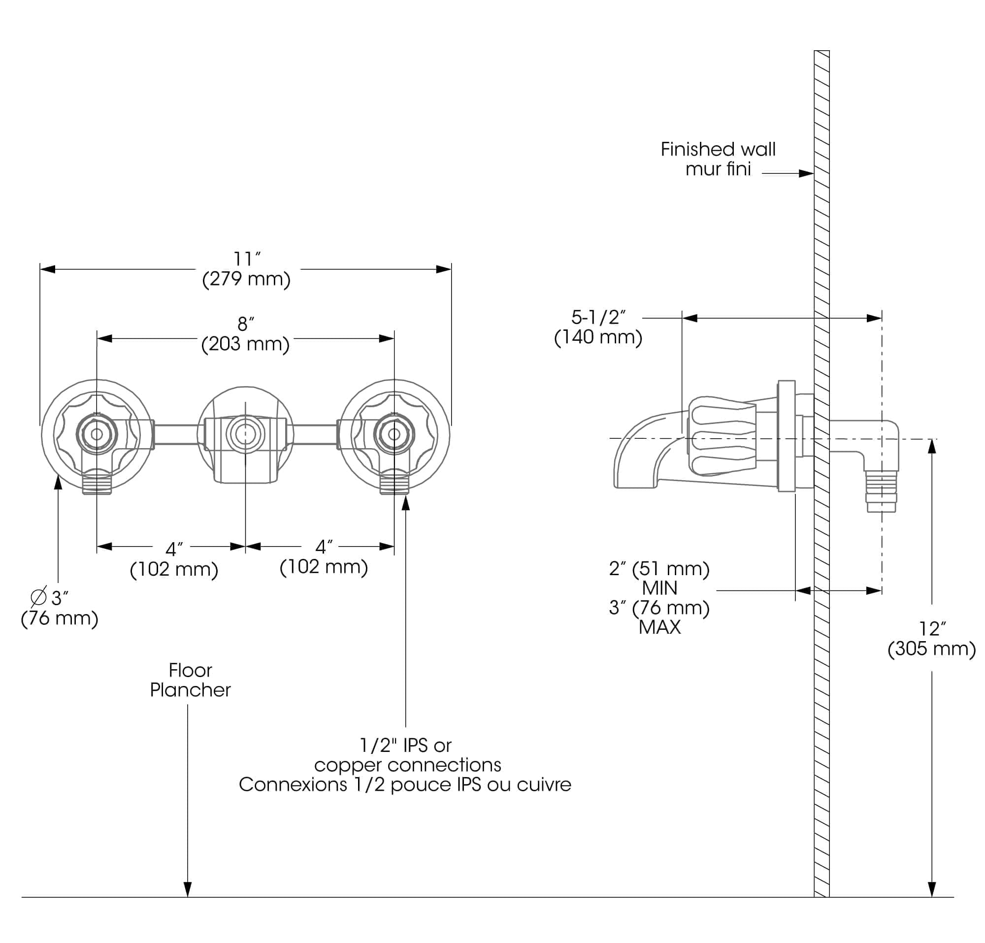 Bathtub Faucet Complete Model Wall Mount Installation Blanger Upt Schematic Engineering Diagram And Support