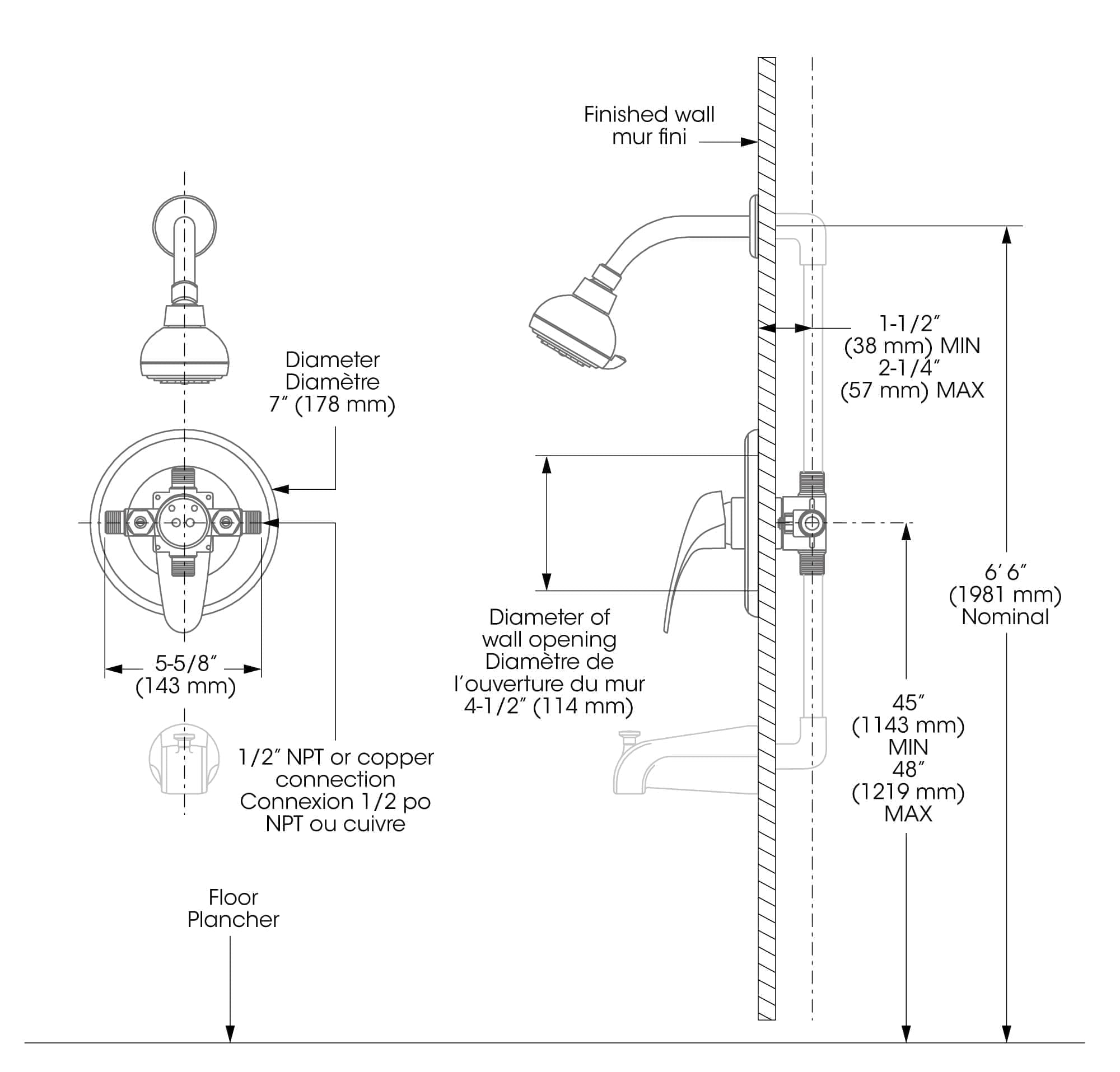 Pressure Balance Valve Diagram Schematic Diagrams Standard Heritage Series Tub Shower Az Partsmaster Faucet Complete Model With Balanced And Kohler Balancing Mixing Repair Installation